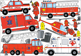100 Fire Truck Wall Decals Fighter