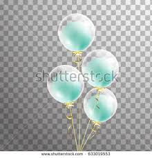 Bunch of white Shine transparent helium balloon with green balloon inside isolated Party decorations for
