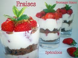 verrine fraises fromage blanc et spéculoos dans vos assiettes