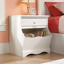 Sauder Beginnings Dresser Soft White by Sauder Pogo 1 Drawer Soft White Nightstand 414433 The Home Depot