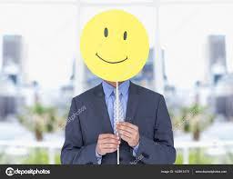 smiley bureau homme d affaires maintenant heureux sourire devant visage