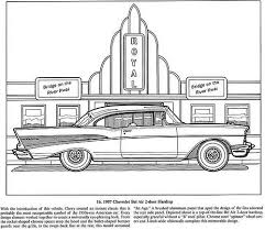 Classic Cars Coloring Book 1957 Chevrolet Bel Air 2 Door Hardtop