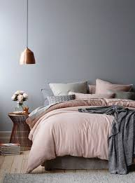 Pink Grey And Copper Bedroom