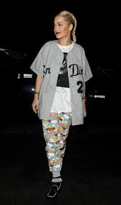 Rita Oras Paris Pyrex Religion T Shirt And Asos Comic Print Sweatpants