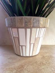 Rustic Mosaic Planter Large Flower Pot Indoor By MoZEHicDesigns
