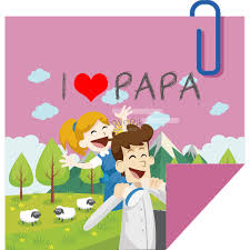 Dibujos Animados Nota Cuadrada Publicado El Día Del Padre