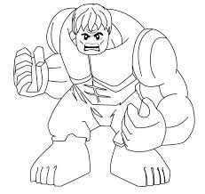 Free Printable Marvel Superhero Coloring Pages Hulk Lego