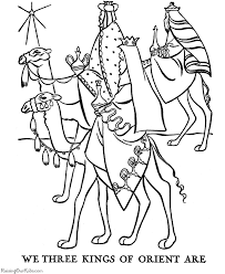 The Three Wisemen Coloring Pages