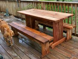trestle picnic table and benches by mary anne lumberjocks com
