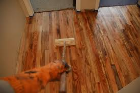Knee Pads For Hardwood Floor Installers by Remodelaholic How To Finish Solid Wood Flooring Step By Step