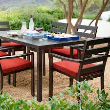 Red Patio Furniture Pinterest by San Mateo Dining Table Rectangular Pier 1 Imports Patio