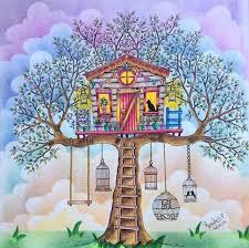 Treehouse Secret Garden Casa Da Arvore Jardim Secreto Johanna Basford Again Don