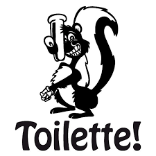 home décor stinktier toilette wandtattoo wandsticker