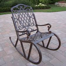 Shop Oakland Living Aluminum Rocking Chair With Woven Lowes Outdoor ...