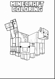 Terrific Minecraft Coloring Pages Printable With Of And Ender Dragon