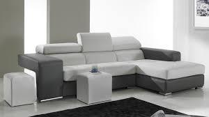 canapé d angle en cuir noir et blanc pas cher canapé angle design
