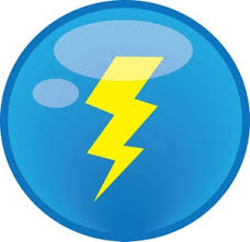 Lightning Bolt Lightning Clipart Image Clip Art A Blue
