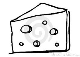 Milk cheese clipart black and white