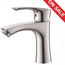 Brushed Nickel Bathroom Faucets Single Hole by Kingo Home Contemporary Stainless Steel Single Hole Lavatory