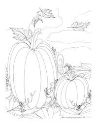 Pumpkin Patch Parable Craft by This Thanksgiving Coloring Page Features Two Pumpkins In A Pumpkin