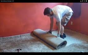 Long Floor Staple Remover by How To Remove Old Carpet Diy Youtube