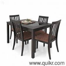 4 Seater Glass Top Dining Table By Zuari
