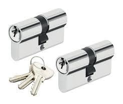 barillet securite porte entree lot 2 cylindres 30x30 mm alpha bricard 4 clés barillet de sécurité