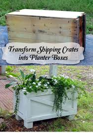 Shipping Crates Turned Planter Boxes Before And After