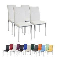 4 x esszimmerstühle verona weiss chrom esszimmerstuhl