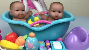 Twin Baby Dolls Bath Time Pretend Play Feeding Potty Time Twin