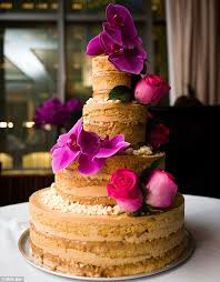 Pared Down Theres A Growing Trend For Naked Wedding Cakes Which