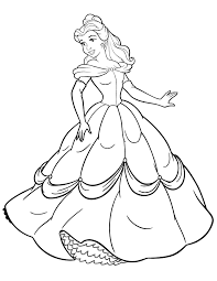 Disney Princess Beauty And The Beast Belle Coloring Page