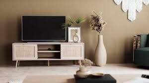 newroom sideboard mila tv board sonoma eiche rattan optik modern boho tv schrank fernsehtisch rack skandinavisch wohnzimmer schlafzimmer