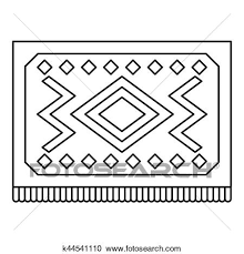 Stock Illustrations Of Turkish Carpet With Geometric Pattern Icon