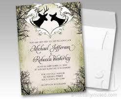 Rustic Deer Frame Canvas Wedding Invitations