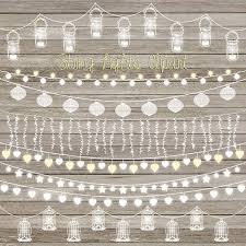 Wedding Lights Wood Background Clipart