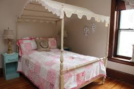 King Size Canopy Bed With Curtains by Full Size Canopy Bed Wall Mounted Wooden Brown Rectangle Headboard