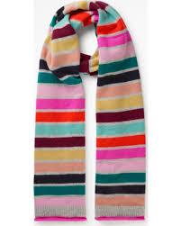 Cashmere Scarf Multi Stripe Women Boden