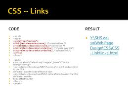 links styling links links can be styled with any css