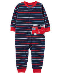 1-Piece Firetruck Fleece Footless PJs | Carter's OshKosh Canada