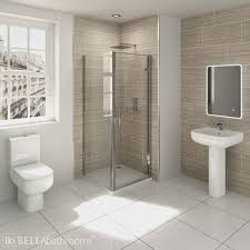 RAK Series 600 EnSuite Bathroom With Pacific Hinged Shower