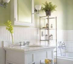 Image Of Beadboard And Tile In Bathroom
