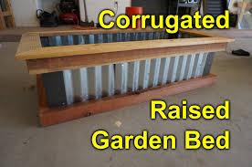Corrugated Raised Garden Bed