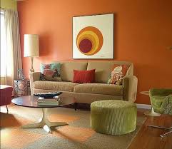 Brown Couch Living Room Ideas by Small Living Room Ideas With Orange Wall Paint And Brown Sofa