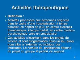 1 les activités sociothérapeutiques en psychiatrie ppt télécharger