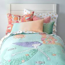 Pretty Little Mermaid Toddler Bedding Color