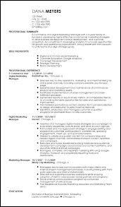 Free Contemporary Marketing Resume Templates