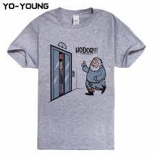game of thrones hodor jon snow men t shirts funny design t shirts