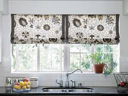Kitchen Curtain Ideas Pictures by Attractive Ideas For Kitchen Window Treatments With Cool Brown
