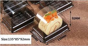 800 teile los 135 85 92mm kunststoff klar einweg kuchen box einzelne person schweizer kuchen boxen lebensmittel dessert verpackung za4173